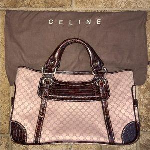 Authentic Celine exotic skin handbag w dust cover